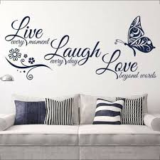 Live Love Quotes Butterfly Wall Stickers Art Room Decal Home Room Decor For Sale Online