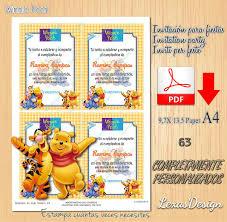 Invitacion Digital Imprimible Winnie Pooh Cumpleanos 60 00 En