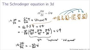 schrodinger equation in 3d you