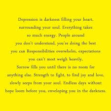 depression quotes sayings about being depressed images