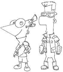 Kleurplaat Phineas En Ferb Phineas En Ferb Kleurplaten Phineas
