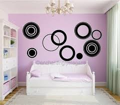 Large Circles Vinyl Decal Wall Stickers Teen Girl Boy Room Modern Wall Art Ebay