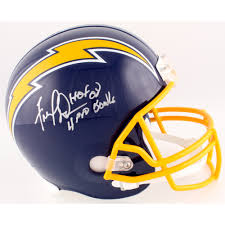 Fred Dean Signed Chargers Throwback Full-Size Helmet Inscribed