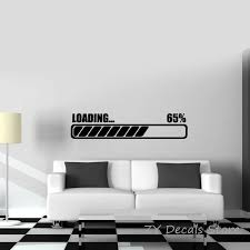 Gamer Loading Wall Sticker Boys Room Decor Computer Notebook Laptop Gaming Decal Kids Bedroom Removable Wall Decal Tattoo S681 Stickers Boy Wall Stickerremovable Wall Decals Aliexpress