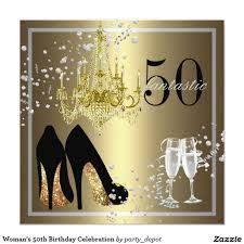 50 A Celebracion Del Cumpleanos De La Mujer Invitacion 5 25 X