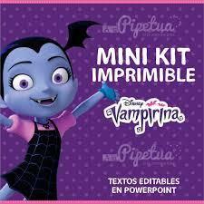 Mini Kit Imprimible Vampirina Banderin Invitacion Cartel 120