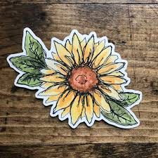 Sunflower Vinyl Sticker Art By Sj Nielsen