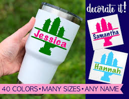 Cactus Decal For Tumbler Yeti Cactus Decal Personalized Etsy