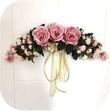 silk flowers tea rose peony wreaths