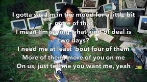 SZA - The Weekend (Lyrics) - YouTube ...