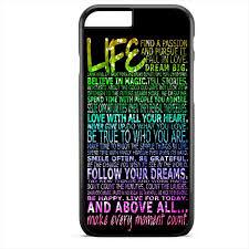 life quote sparkle rainbow tatum apple phonecase cover for