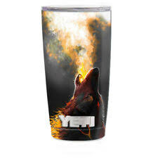 Skin Decal For Yeti 20 Oz Rambler Tumbler Cup Wolf Howling At Moon For Sale Online