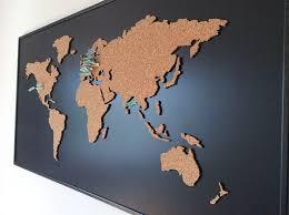 Cork Board World Map On Behance Home Diy Crafts Cork World Map