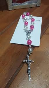 homemade rosary beads in