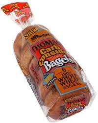 thomas 100 whole wheat bagels 6 ea