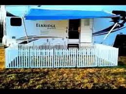 Portable Camping Fence Picketplayfencing Com Portable Dog Fence Rv Dog Rv Dog Fence