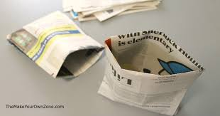 recycle old newspapers to make your own