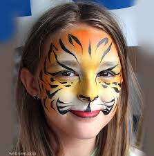 tiger face paintings
