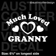 6 5 Much Loved Granny Vinyl Decal Car Window Laptop Sticker Grandma Gift Rainbowlands Lk