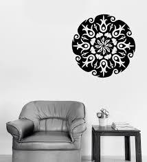 Large Wall Vinyl Decal Circle Mandala Flower Ornament Nature Meditatio Wallstickers4you