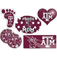 Amazon Com Texas A M Aggies Proud Mom 6 Piece Decal Set Automotive