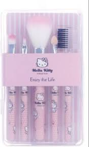 o kitty makeup brush set of 5 with