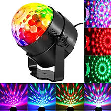 Party Ball Lights Solmore 5w Rgb Sound Activated Rotating Crystal Dj Disco Ball Lights Stage Lights