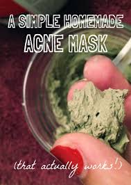 a simple homemade mask for acne that