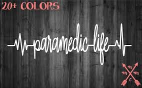 Paramedic Life Emt Ambulance Vinyl Sticker Decal Sticker Car Etsy