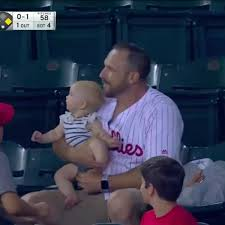 I Audibly Gasped Watching This Dad Catch a Foul Ball While Holding His Baby