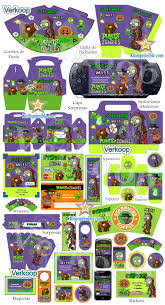 Kit Imprimible Plantas Vs Zombies Candy Bar Fiesta Kit Imprimible
