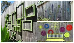 diy garden fence wall art ideas