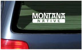 Montana Native Sticker Vinyl Decal Car Window Fun Helena Billings Big Sky Ebay