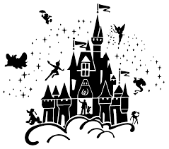Disney Castle With Cartoon Characters Wall Sticker Usa