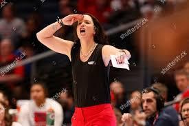 Dayton head coach Shauna Green instructs her Editorial Stock Photo ...