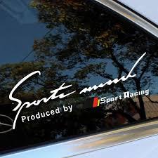 Car Styling Reflective Sport Racing Window Sticker Windsheild Decal For Mercedes Benz A C Cla Class W205 W211 W204 C200 W203 Amg Car Stickers Aliexpress