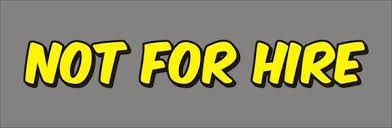 Not For Hire Decal Set Of 2 Private Coach Stickers On Popscreen