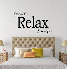 Breathe Relax Escape Wall Decal For Bedroom Decor Bathroom Etsy