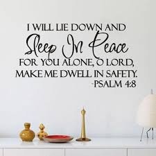 Sleep In Peace Psalm 4 8 Bible Verse Wall Decal Quote Sticker Decor Inspiration Buy At A Low Prices On Joom E Commerce Platform
