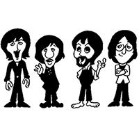 Beatles Die Cut Vinyl Decal Pv1148 Pirate Vinyl Decals