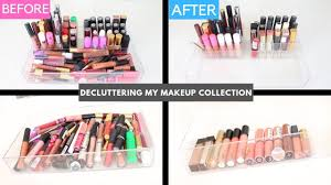 decluttering my makeup collection 2019