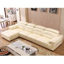 shape sectional genuine leather couch