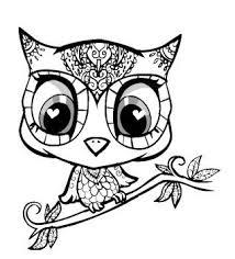 Cute Baby Owl Coloring Pages Kleurplaten Kleuren Owl