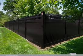 Images Of Illusions Pvc Vinyl Wood Grain And Color Fence Vinyl Fence Black Fence Backyard Fences