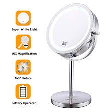 led vanity mirror 10x magnifying
