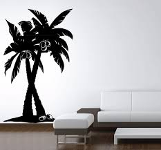 Amazon Com Lightsforever Vinyl Wall Art Decal Large Coconut Palm Trees Forest Removable Sticker 60 H X 36 W Black Home Kitchen