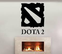 Dota 2 Logo Gamer Pc Gaming Wall Stickers By Usamadeproducts Game Logo Dota 2 Logo Dota 2