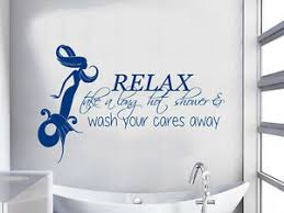 Mermaid Wall Decal Quote Relax Shower Vinyl Stickers Girl Bathroom Decor Ky62 Ebay