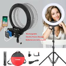 16 led ring light with lithium battery