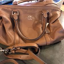 brown leather satchel purse